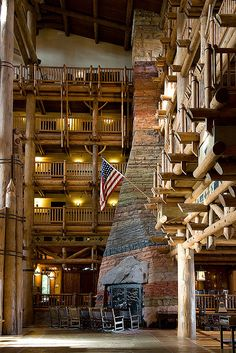The enormous fireplace at the Wilderness Lodge is the perfect place to rest after a long day at the parks.