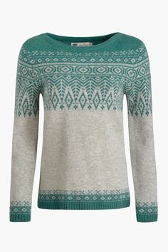 Seasalt's take on the traditional Fair Isle knit! In the softest lambswool, with a flattering boat neck, feminine fit, and unique diamond stitch pattern.