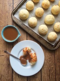 We're trying these this week! Brazilian cheese bread recipe (pão de queijo) using Mexican cotija cheese | Get the recipe at theothersideofthetortilla.com
