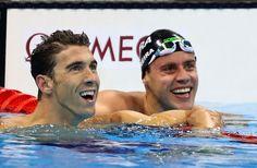 Thiago Pereira e Phelps  (Foto: Satiro Sodré/SSPress)