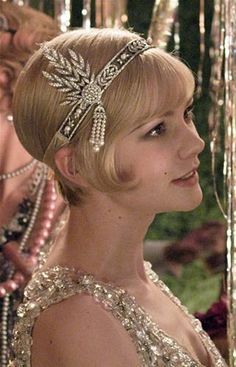 """In """"The Great Gatsby"""", Daisy wears this diamond headband during one of Gatsby's parties. The costume designers for the film went through the 1920's Tiffany's archives, and re-constructed this."""