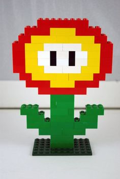 Lego Mario Brothers Flower Power Handmade Lego Mario Brothers Flower Power Handmade by ArtsySAHD on Etsy - Beliebt Decoration Lego Lego Mario, Lego Super Mario, Super Mario Birthday, Mario Birthday Party, Mario Party, Mario Brothers, Lego Nxt, Flower Power, Lego Design