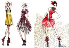 fashion illustration | Kathryn Elyse Fashion Illustrations | Trendland: Design Blog & Trend ...