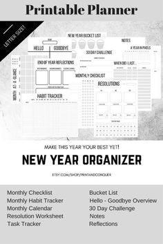 This is great for a planner for the new year! I can use it to track all of my activities! Printable Stickers, Printable Worksheets, Printable Planner, Free Printables, Bujo, Goodbye Note, Bloom Planner, Best Yet, Organize Your Life