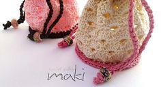 Crochet pattern Small pouch bag crochet pattern by MakiCrochet