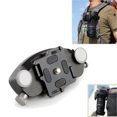 DSLR Camera Belt Buckle Mount Clip Adapter Quick Release Waist Belt Strap Holder #UnbrandedGeneric