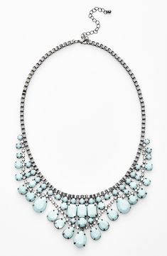 Perfect for layering with a little black dress: Mint statement necklace (and it's only $26!)