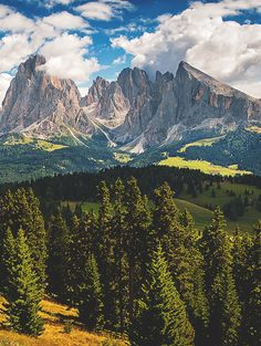Seiser Alm in South Tyrol, Italy