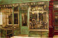"Grace Bentley Scheck  ""Vesuvio Bakery""... collagraph with silk aquatint, 1994, $400"