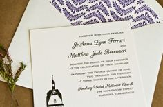 Lighthouse Letterpress Wedding Invitations Laura Macchia5 600x399