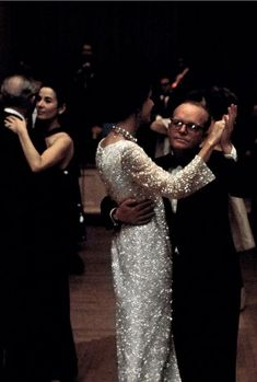 Gloria Guinness dancing with Truman Capote at his Black and White Ball, 1966