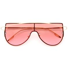 Metal frame sunglasses with flat lens. Flat Top Sunglasses, Sunglasses Accessories, Women's Accessories, Sunglass Frames, Top Colour, Color, Types Of Fashion Styles, At Least, Ready To Wear