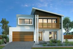 Kingscliff 324 - G. Gardner Homes Double Story House, Facade House, House Facades, Exterior Remodel, Facade Design, Modern House Design, Home Builders, House Plans, New Homes