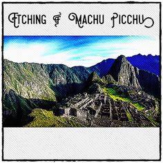 Etching of Machu Picchu using iPad Apps Geometric Art Machu Picchu, The Real World, Geometric Art, Peru, Geometry, Ipad, Turkey