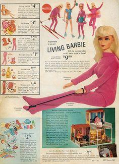 I loved my Living Barbie! Original pinner said: Sears Wish Book - 1970 Living Barbie, visit my blog at modbarbies.com