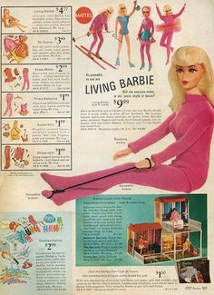 I loved my Living Barbie! Original pinner said: Sears Wish Book - 1970 Living Barbie, visit my blog at modbarbies.com