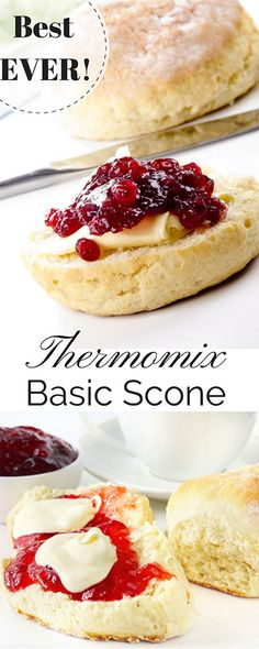 Basic Thermomix Scone Recipe – Today I'm giving you the perfect Thermomix scone recipe! This simple, 5 min recipe will produce the lightest, most delicious scones every time! Thermomix Scones, Pain Thermomix, Thermomix Desserts, Thermomix Recipes Healthy, Thermomix Soup, Belini Recipe, Basic Scones, Baking Recipes, Dessert Recipes