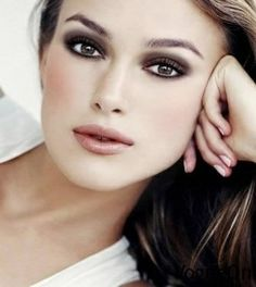 Kiera Knightley - Cool skin tone.  Cool dark hair with ash highlights.  Avoid gold, yellow, and bronze hair colors, as they turn cool skin tones sallow.