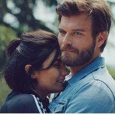 Tuba Buyukustun as Suhan and Kivanc Tatlitug as Cesur in the Turkish TV series CESUR VE GUZEL, 2016-2017.