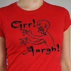 Grr+Aargh++Red++Womens+Fitted+Tshirt+Sizes+SM2XL+by+BRANDED,+$20.00