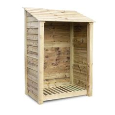 W x 3 Ft. D Wood Log Store dCor design Finish: Light Green Wood Storage Sheds, Firewood Storage, Wooden Sheds, Firewood Logs, Pressure Treated Timber, Log Store, Wood Company, Leather Sofa Set, Roof Styles