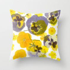 Flowering Throw Pillow by Ornaart - $20.00
