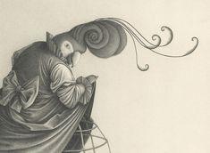 Les Illustrations anthropomorphiques en noir et blanc de David Álvarez  (6)