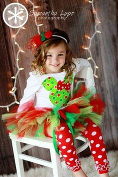 Minnie Mouse Christmas tutu set by Fit For A Princess.