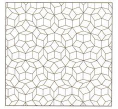 Aperiodic Penrose tiling