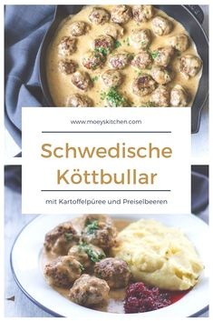 All you need is Hack: Schwedische Köttbullar - Amazing Foods Menu Recipes Baked Meatball Recipe, Grape Recipes, Scandinavian Food, Healthy Eating Tips, All You Need Is, Food Inspiration, The Best, Chicken Recipes, Food Porn