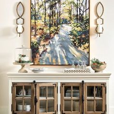 Add depth to any room with A Sunlit Stroll by our exclusive artist Rick Reinert.