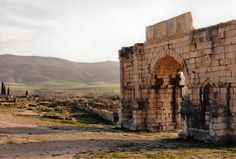 Arch of Caracalla at Volubilis, Morocco.