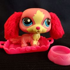 Littlest Pet Shop 2508 Caval King Charles Dog LPS Toy HASBRO 2010 Pink