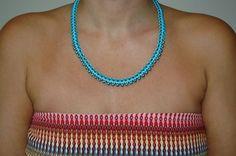 Κολιέ από κερωμένο κορδόνι με μεταλλικα στοιχεία, σε πολλούς συνδιασμούς. Handmade Necklaces, Beaded Necklace, Jewelry, Beaded Collar, Jewlery, Pearl Necklace, Jewerly, Schmuck, Beaded Necklaces