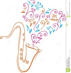 saxophone-colored-design-music-notes-31736141.jpg (1271×1300)