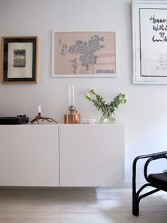 IKEA kitchen cabinets as sideboard Decor, Interior, Interior Inspiration, Home Decor, Room Inspiration, House Interior, Living Room Inspiration, Home Interior Design, Interior Design Furniture