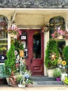 Flower Shop With Birdhouses...Strasburg, PA...by Susan Savad...So welcoming!