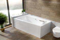 Wanna narożna Besco Infinity z obudową. #besco #projektantwnetrz #mojdom #wanny #wanna #bath #bathtime #bath #bathtube #inspiracjelazienkowe #modernbathroom #budowadomutrwa #przebudowadomu #interiordesign #interiordecor Corner Bathtub, Alcove, Bathroom, Architecture, Design, Products, Washroom, Arquitetura, Full Bath