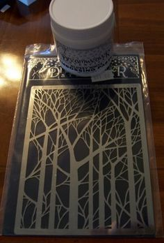 Embossing paste tutorial by Jane's Creative Process