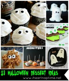 23 Halloween Dessert Ideas {Link Party Features} I Heart Nap Time | I Heart Nap Time - Easy recipes, DIY crafts, Homemaking