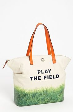 kate spade new york 'call to action - terry' canvas tote | Nordstrom