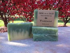 Wintermint, Natural Handmade Soap, Cold Process Soap, Winter Soap, Vegan Soap - CURING NOW, Ready to ship 10/7 on Etsy, $4.50
