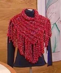 Receita de Tricô: Gola de tricô em ponto espiga