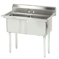 """53"""" x 30"""" Double Fabricated Bowl Scullery Sink Advance Tabco"""