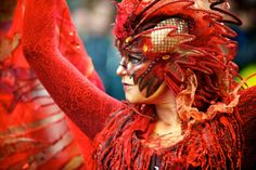 No it's not the official Venetian Carnival… however sometimes the one in Graz is also quite nice. Magical Images, Fire Art, Cool Costumes, Costume Ideas, World Cultures, Masquerade, Red Color, Beautiful People, Around The Worlds