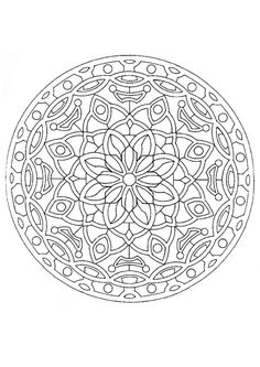 this advanced mandala coloring sheet is a fun design and quite challenging to color mandala coloring page can be decorated online with the - Intricate Mandalas Coloring Pages