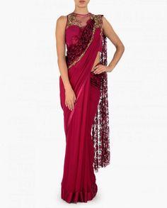 Fashion: Gaurav Gupta's Draped Sari Gowns 2015