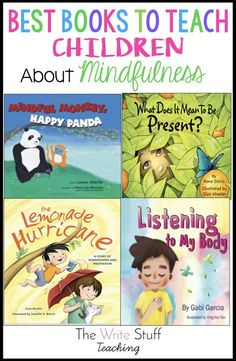 Teaching mindfulness to children is easy with great mentor texts. Use the books recommended her to help your students with self awareness. Teaching Mindfulness, Mindfulness For Kids, Mindfulness Activities, Mindfulness Books, Meditation Kids, Mindfulness Therapy, Zen Yoga, Mindfulness Practice, Best Children Books