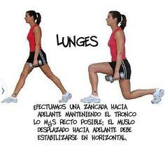 Moda & Belleza: Lunges: Es un ejercicio que trabaja los glúteos y ...