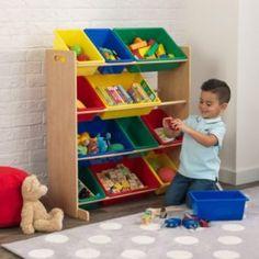 12 Bin Storage Unit - Natural Plastic Bins, Plastic Storage, Table Storage, Storage Bins, Toy Storage Solutions, Toy Bins, Toy Organization, Kids Furniture, Decoration